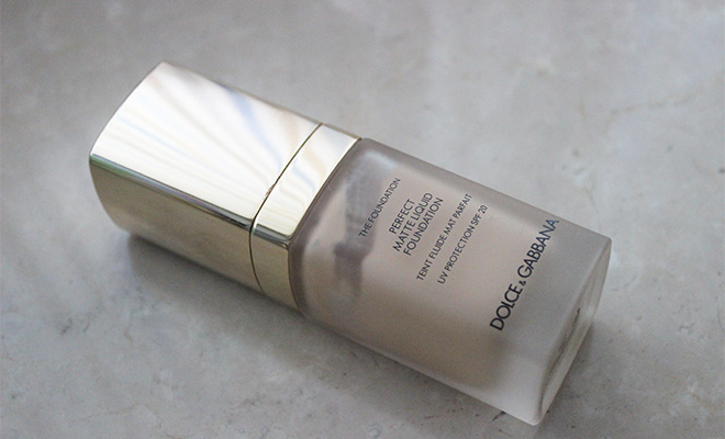 dolce e gabbana perfect matte liquid foundation