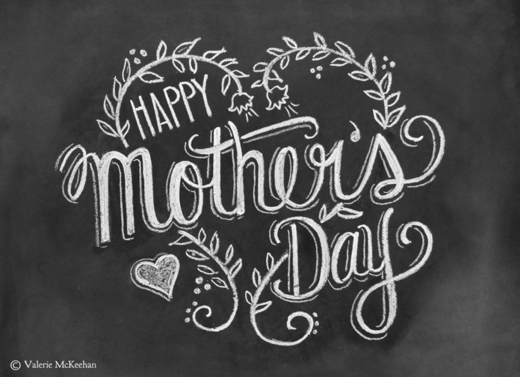 Black-and-White-Chalkboard-Decoration-For-Mother-Day