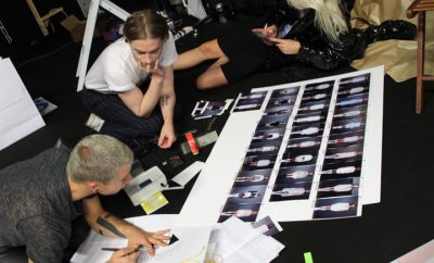 backstage sfilata francesco scognamiglio clinique milano fashion week