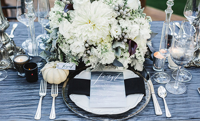 chic halloween wedding