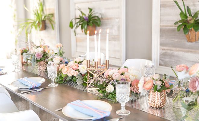 rose gold wedding – table